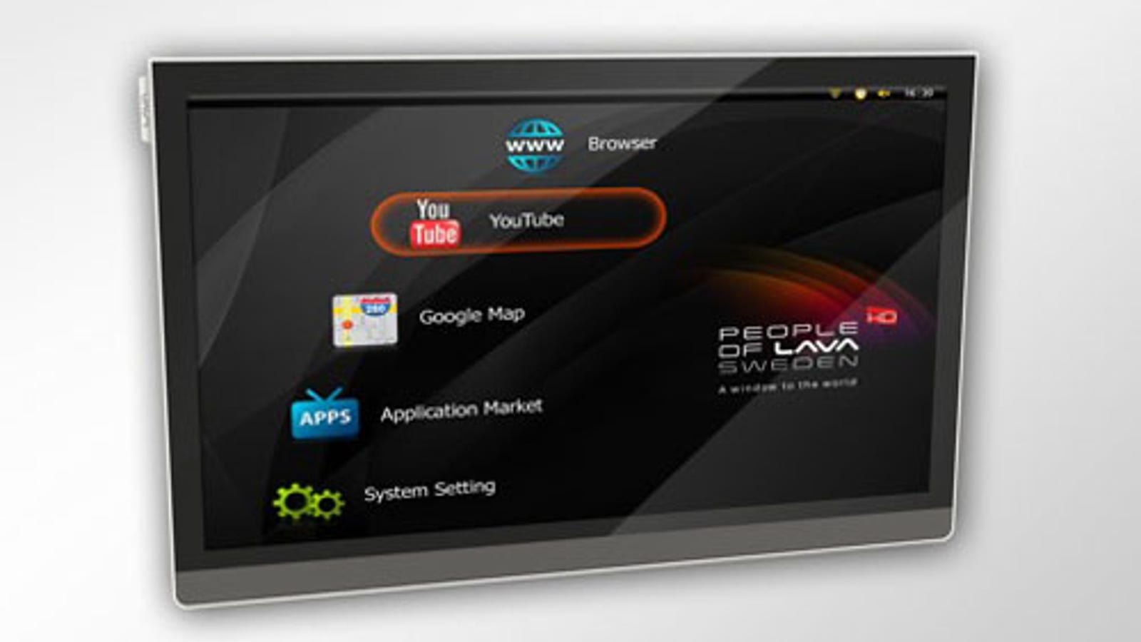 First Android-Based Television, From Sweden's People of Lava