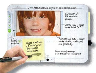 Illustration for article titled Audiovox's Digital Message Centers Let You Leave Videos for Your Family