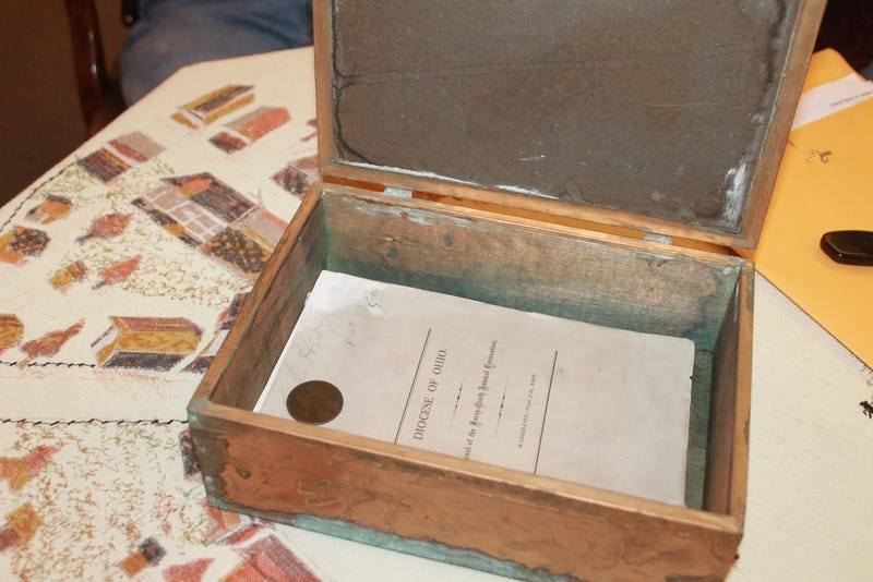 Time capsule from 1866 finally discovered this week in Ohio, missing some items (Jennifer Bahney/Circleville Herald)