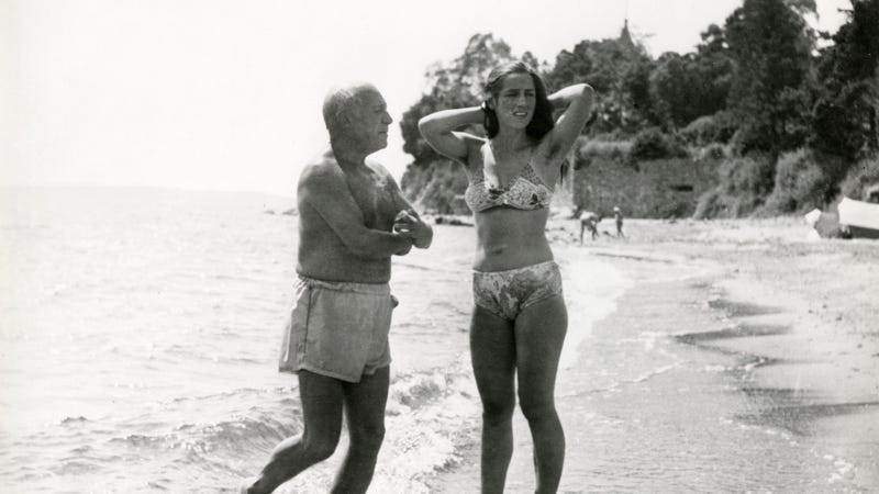 Picasso with Françoise Gilot in 1950