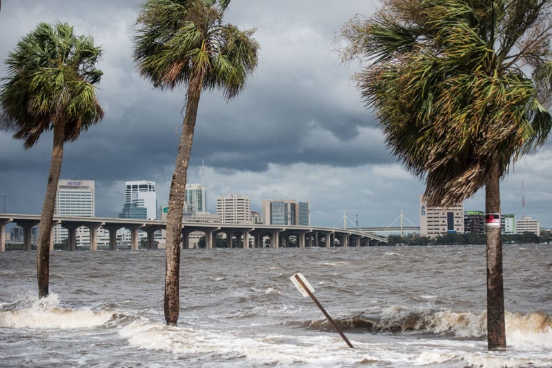 A scene from downtown Jacksonville, Fla., Sept. 11, 2017. Hurricane Irma caused massive flooding and power outages throughout the Sunshine State. (Sean Rayford/Getty Images)