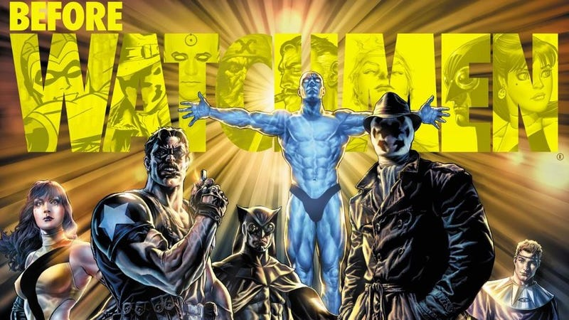 Illustration for article titled 'I Did It Thirty-Five Minutes Ago': Before Watchmen's Prequel Problem