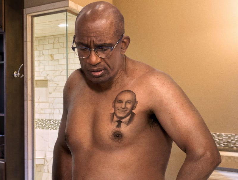 Illustration for article titled Al Roker Stares Crestfallen At Matt Lauer Tattoo On Own Torso