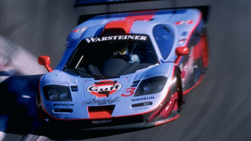 Illustration for article titled Your Ridiculously Awesome Gulf Livery McLaren F1 Wallpaper Is Here