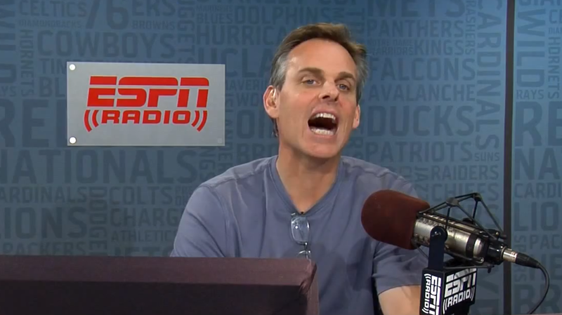 Illustration for article titled Ugh. Colin Cowherd Is (Statistically) The Best Pundit Of 2012.
