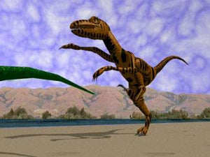 "Illustration for article titled Deadspin HOF Nominee: ""Run You Stupid F—-ing Dinosaur! Run!"""
