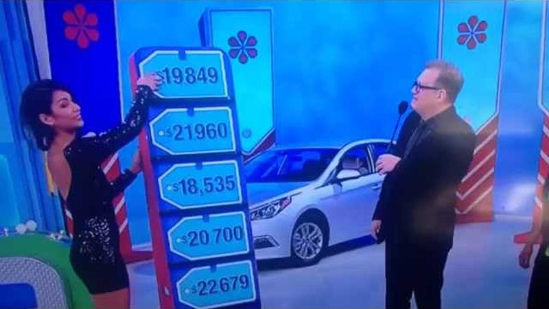 price is right car giveaway price is right model cries after accidentally giving away 8226