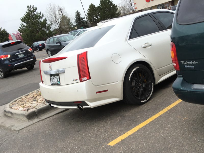 Cadillac CTSV with tire lettering that caught my eye