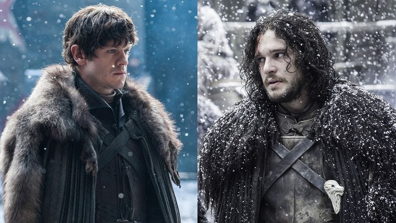 Iwan Rheon, Kit Harrington (HBO)
