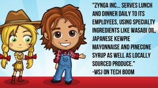 Illustration for article titled Zynga Serves Pinecone Syrup, Japanese Mayonaise for Office Lunches