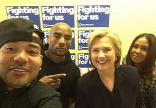 Hillary Clinton makes an appearance on The Breakfast Club.Twitter