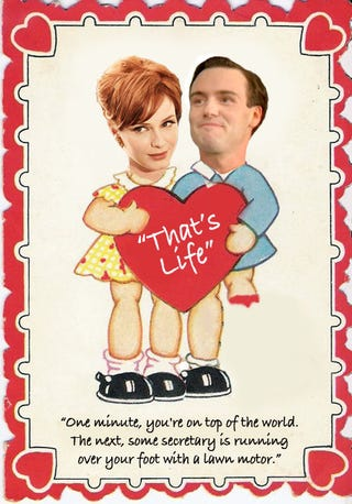 """Illustration for article titled Mad Men Valentines Say, """"I Love You Even More Than My Mistress"""""""