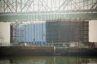 Illustration for article titled What the Hell Is Google Building On This Massive Barge?