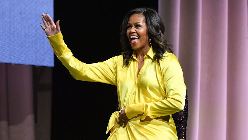 Former first lady Michelle Obama discusses her book 'Becoming' at Barclays Center on December 19, 2018 in New York City.