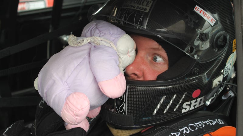 Illustration for article titled Racing Drivers With Easter Bunnies Are The Best Thing Ever