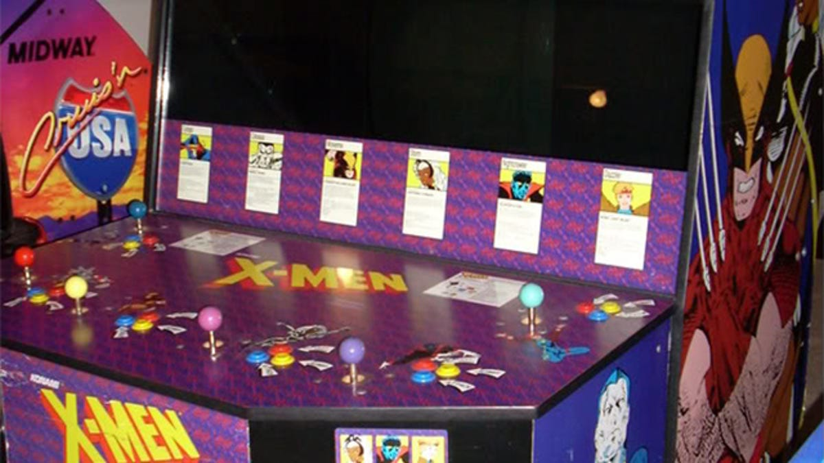 x men s giant six player cabinet was an arcade marvel