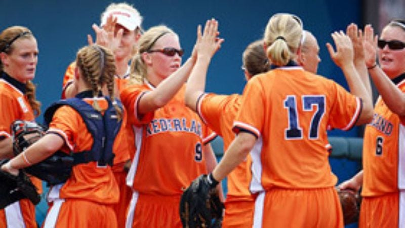 Illustration for article titled Netherlands Taught How To Play Softball Seconds Before Being Shoved Onto Field Against U.S. Team