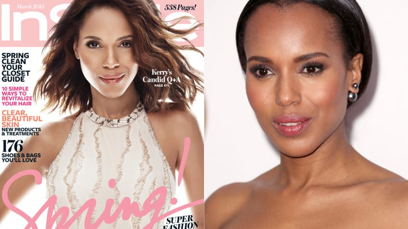 Illustration for article titled InStyle and Kerry Washington Respond to Her 'Lightened' Cover