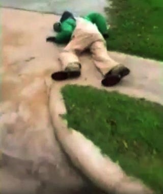 "Scene from ""knockout"" video showing racist attack on Roy Coleman, 81, of Texas in 2013YouTube screenshot"