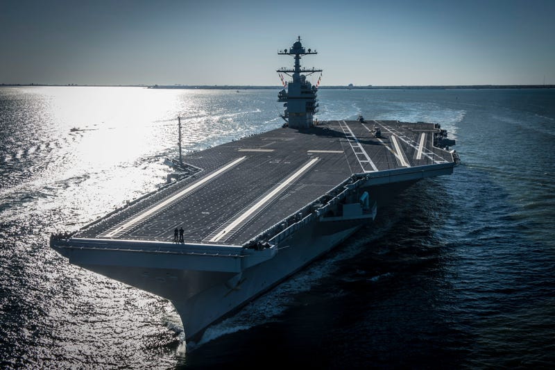 USS Gerald R Ford Arriving Naval Station Norfolk. US Navy Photo