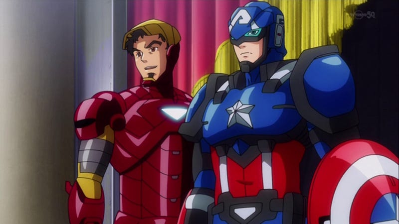 Illustration for article titled The Avengers (and other Marvel Heroes) in Their Official Anime Forms