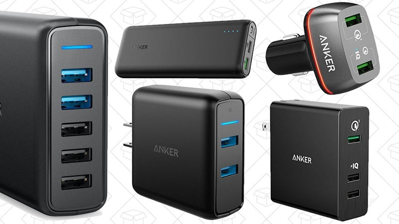 Anker PowerCore 20000 with Quick Charge 3.0, $42 with code ANKERSP5 | Anker 39.5W Dual USB Wall Charger with Quick Charge 3.0, $27 with code ANKERSP1 | Anker 63W 5-Port USB Wall Charger with Dual Quick Charge 3.0 Ports, $34 with code ANKERSP2 | Anker Quick Charge 3.0 Anker 42W 2-Port USB Car Charger, $25 with code ANKERSP3 | Quick Charge 3.0, Anker 3-Port 42W USB Wall Charger, $25 with code ANKERSP4