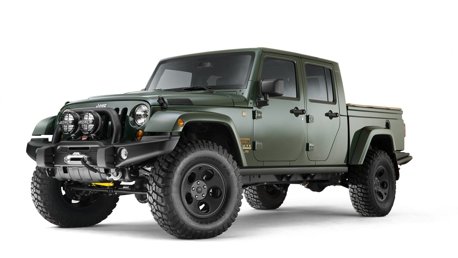 Jeep Wrangler Brute >> Here's The Ultra-Fancy AEV Brute Double Cab Filson Edition