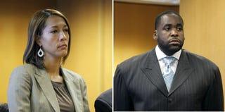 Christine Beatty; Kwame Kilpatrick (Bill Pugliano/Getty Images)