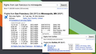 Illustration for article titled Google Adds Flight Schedules to Search Results