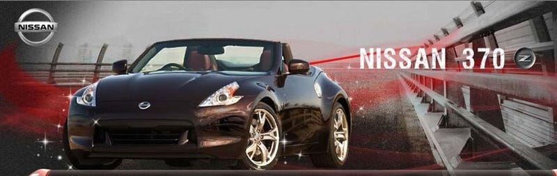 Illustration for article titled 2010 Nissan 370Z Roadster Shows Us Its Top Dropped