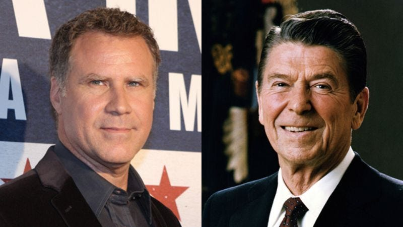 Illustration for article titled Will Ferrell to piss off conservatives by playing Ronald Reagan