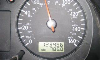 Illustration for article titled A stunning commitment to odometer numerology