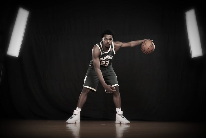 Sterling Brown of the Milwaukee Bucks poses for a portrait during the 2017 NBA rookie photo shoot at MSG Training Center on Aug, 11, 2017, in Greenburgh, N.Y.