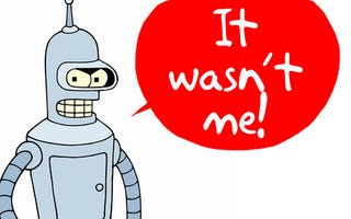 Illustration for article titled Scientists Invent Robots That Lie, Real Bender Closer Than Ever