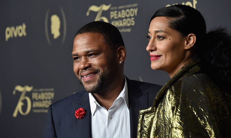 Actors Anthony Anderson (L)and Tracee Ellis Ross attend The 75th Annual Peabody Awards Ceremony at Cipriani Wall Street on May 20, 2016 in New York City.
