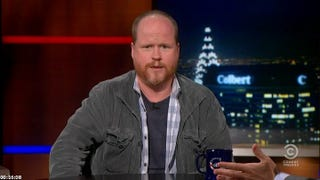Illustration for article titled Joss Whedon on Colbert...