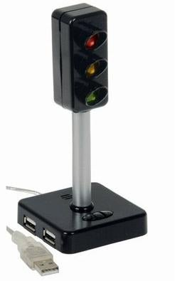 Illustration for article titled Traffic Light USB Hub May Be the End of You