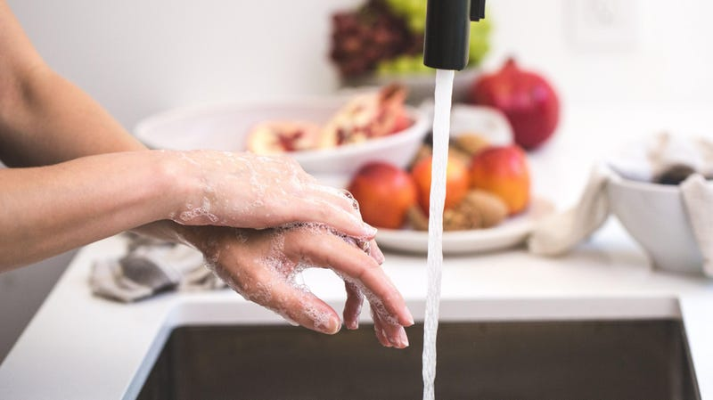 Use Soap Before Water to Clean Greasy Hands