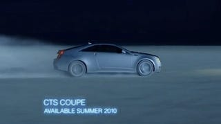 Illustration for article titled Production Cadillac CTS Coupe Revealed In New Commercial