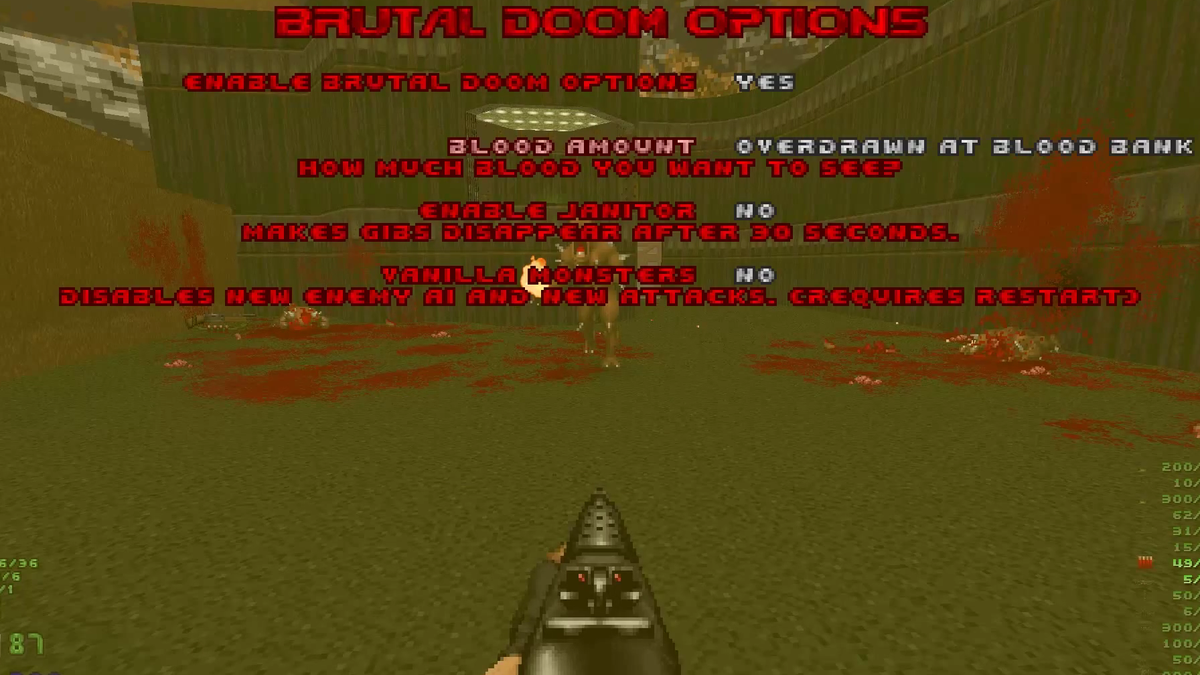 Brutal Doom Mod Has Some Great Customizable Gore Options