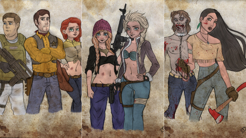 Illustration for article titled If Disney Characters Were In The Middle of a Zombie Apocalypse