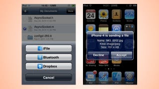 AirBlue Sharing Transfers Files Between iPhones Over Bluetooth