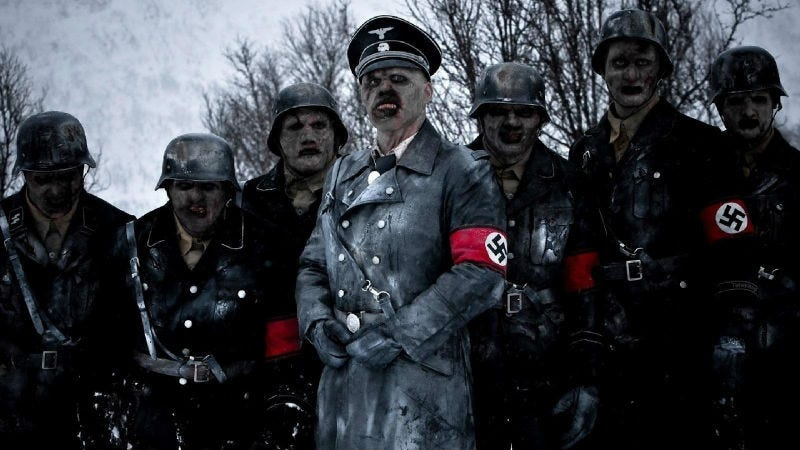 Nazi zombies in the film Dead Snow.