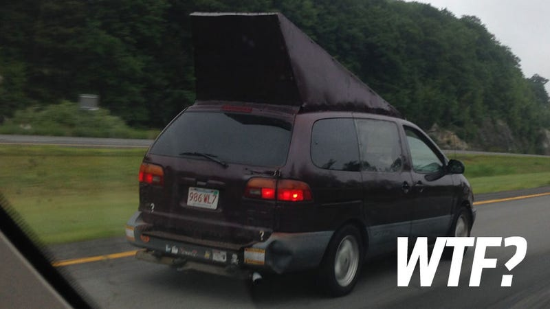 Illustration for article titled What The Hell Is Going On With This Weird Minivan Appendage?