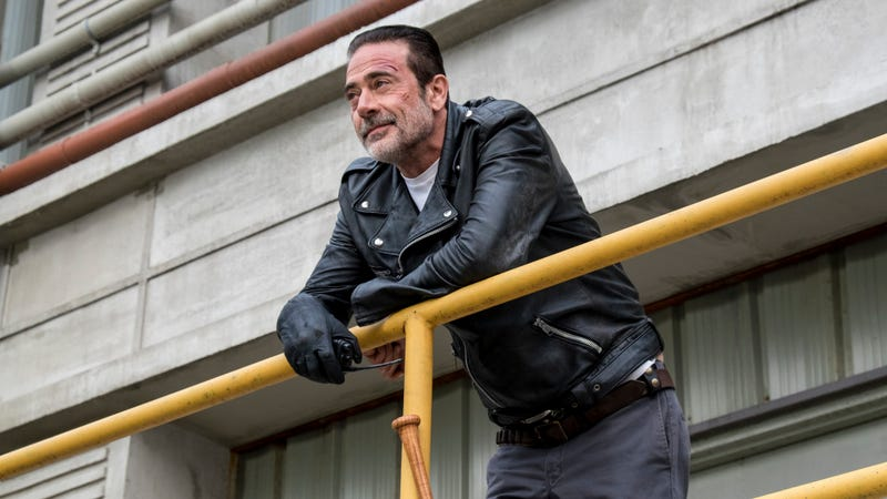 Negan (Jeffrey Dean Morgan) looks deservedly smug after last night's not-terrible episode.