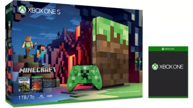 Illustration for article titled Save $100 On The Xbox One S 1TB Minecraft Limited Edition Bundle + Get One Free Game