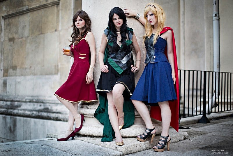 Illustration for article titled So can we get a line of Avengers-inspired dresses already?