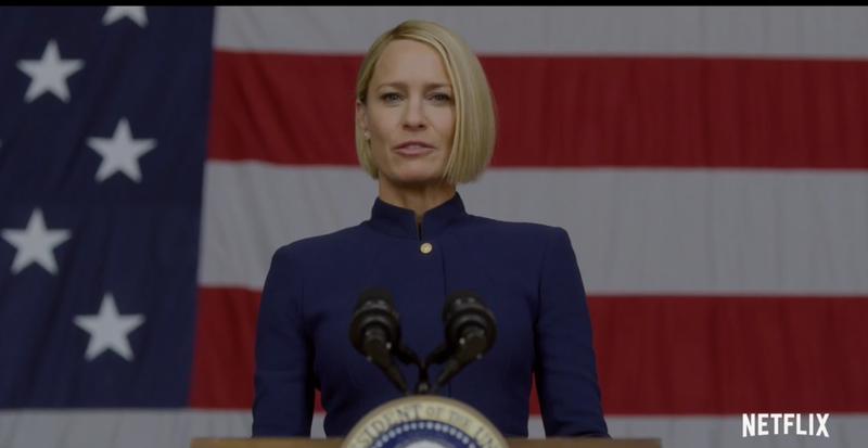 Illustration for article titled Robin Wright Says 'The Reign of the Middle-Aged White Man Is Over' in House of Cards