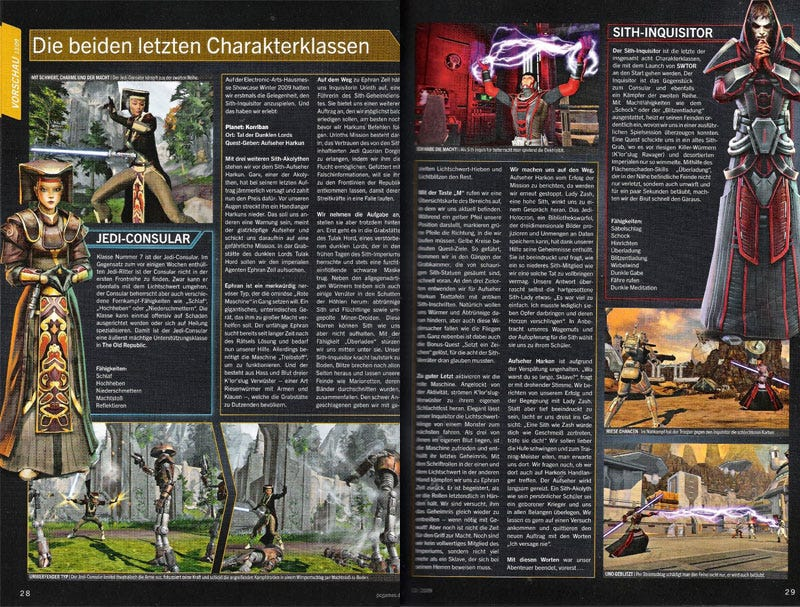 Illustration for article titled Two Remaining Old Republic Classes Revealed