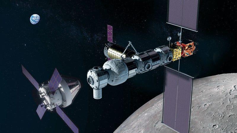 Artist's concept of a lunar outpost